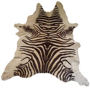 BS Trading Zebra Cowhide 147876 Tan Area Rug