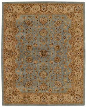 Rugstudio Sample Sale 43725R Medium Blue/Gold Area Rug