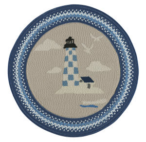 Capel Anthony Baratta Maritime Lighthouse 0385 Dark Blue Area Rug
