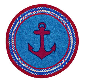 Capel Anthony Baratta Maritime Anchor 0386 Blue Area Rug