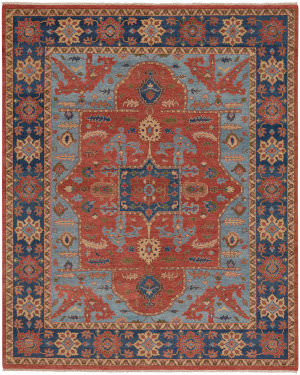 Capel Biltmore Plantation Nomad 1115 Cinnamon - Deep Blue Area Rug
