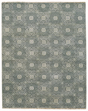 Capel Burmesse Flower 1881 Pewter Area Rug