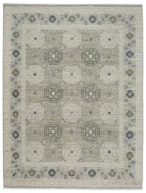 Capel Burmesse Tile 1884 Silver Area Rug