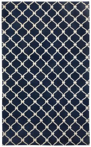 Capel Cococozy Picket 1928 Dark Blue - Cream Area Rug