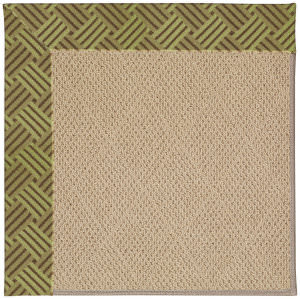 Capel Zoe Cane Wicker 1990 Mossy Green Area Rug