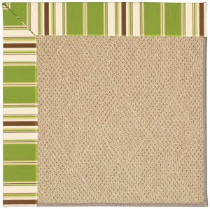 Capel Zoe Cane Wicker 1990 Green Stripe Area Rug