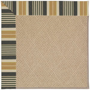 Capel Zoe Cane Wicker 1990 Black Stripe Area Rug