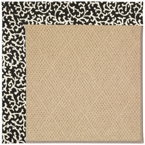 Capel Zoe Cane Wicker 1990 Black Cascade Area Rug