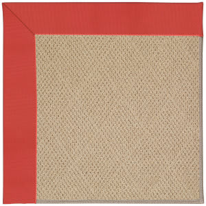Capel Zoe Cane Wicker 1990 Sunset Red Area Rug