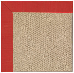 Capel Zoe Cane Wicker 1990 Red Crimson Area Rug