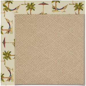 Capel Zoe Cane Wicker 1990 Beige Area Rug