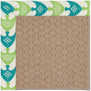 Capel Zoe Grassy Mountain 1991 Angel Fish Green Area Rug