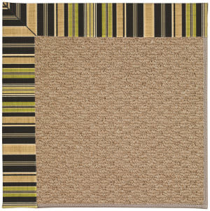 Capel Zoe Raffia 1992 Charcoal Stripe Area Rug