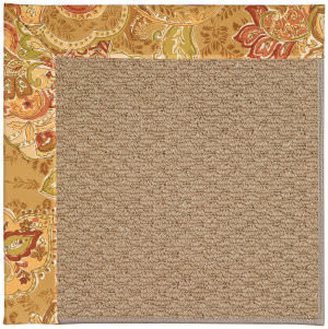 Capel Zoe Raffia 1992 Bronze Flowers Area Rug
