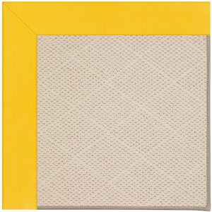 Capel Zoe White Wicker 1993 Summertime Yellow Area Rug