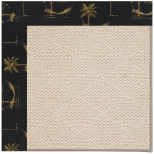 Capel Zoe White Wicker 1993 Jet Black Area Rug