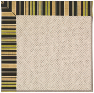 Capel Zoe White Wicker 1993 Charcoal Stripe Area Rug