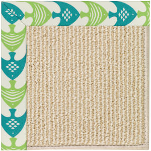 Capel Zoe Beach Sisal 2009 Angel Fish Green Area Rug