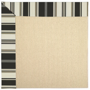 Capel Zoe Beach Sisal 2009 Onyx Stripe Area Rug