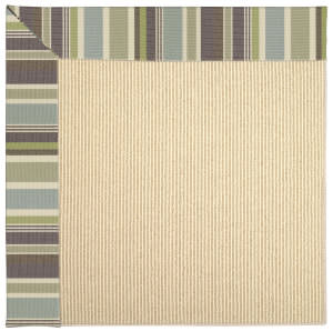 Capel Zoe Beach Sisal 2009 Blue Stripe Area Rug