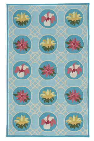 Capel Anthony Baratta Lattice 2337 Sky Blue Area Rug