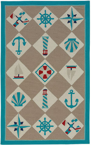 Capel Anthony Baratta Seafaring 2338 Light Tan Area Rug