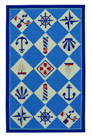 Capel Anthony Baratta Seafaring 2338 Blue Area Rug