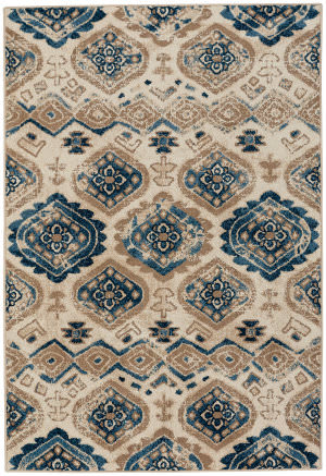 Capel Bethel Diamond 2462 Taupe Blue Area Rug