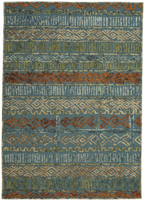 Capel Congo 3149 Blue Green Area Rug