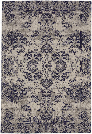Capel Celestial Kirman 3242 Dark Blue Area Rug