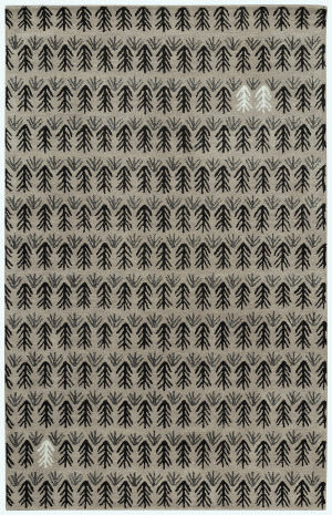 Capel Genevieve Gorder Twigs 3270 Black Area Rug