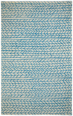 Capel Genevieve Gorder Spear 3305 Beige Blue Area Rug