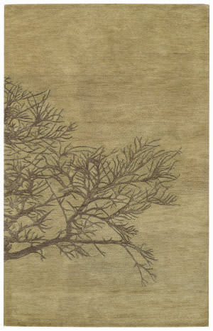 Capel Desert Plateau Shadow Branch 3391 Green Moss Area Rug