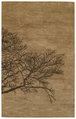 Capel Desert Plateau Shadow Branch 3391 Tree Bark Area Rug