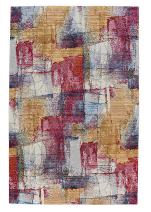 Capel Flame Canvas 3812 Ruby Area Rug