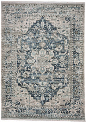 Capel Alden-Medallion 3943 Slate Blue Area Rug