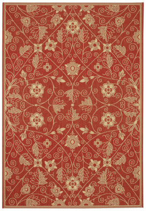 Capel Williamsburg Elsinore Garden Maze 4699 Poppy Area Rug