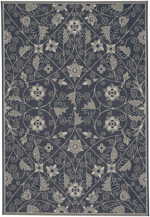 Capel Williamsburg Elsinore Garden Maze 4699 Medium Blue Area Rug