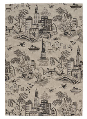 Capel Genevieve Gorder Elsinore Ny Toile 4723 Cinders Area Rug