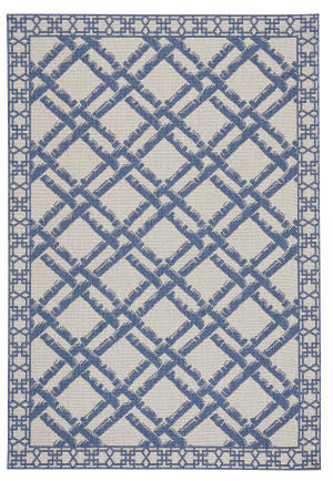 Capel Williamsburg Elsinore Bamboo Trellis 4724 Blueberry Area Rug