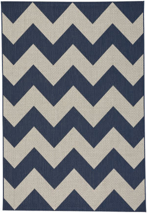 Capel Elsinore Chevron 4726 Midnight Blue Area Rug