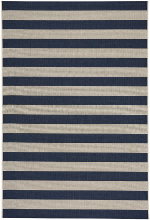 Capel Elsinore Stripe 4730 Midnight Blue Area Rug