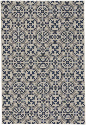 Capel Elsinore Tile 4737 Midnight Blue Area Rug