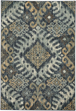 Capel Jacob Diamond 4818 Azure Yellow Area Rug