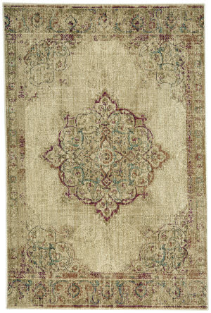 Capel Cedar Creek Kirman 4832 Buff Area Rug