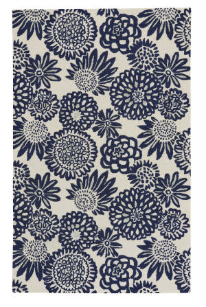 Capel Genevieve Gorder Pompon 9199 Dark Blue Area Rug