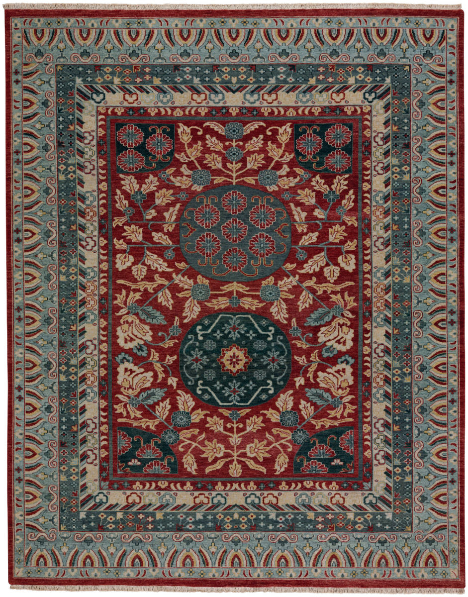 Capel Biltmore Plantation Journet 1111 Dark Red Blue Rug Studio