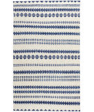 Capel Genevieve Gorder Scandinavian Stripe 1715 Natural Blue Area Rug