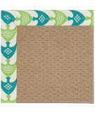 Capel Zoe Raffia 1992 Angel Fish Green Area Rug