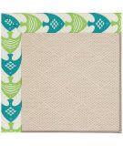 Capel Zoe White Wicker 1993 Angel Fish Green Area Rug